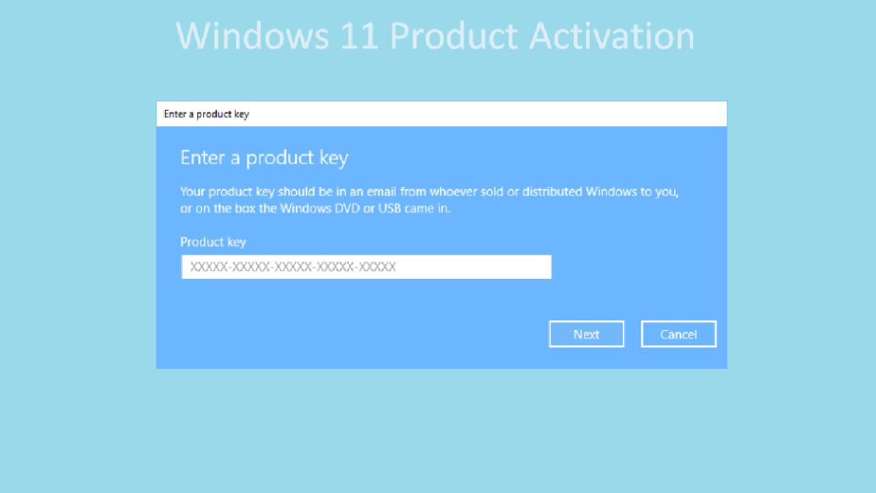 windows 11 product activation key